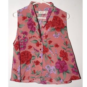 Vintage Victoria's Secret floral pajama top